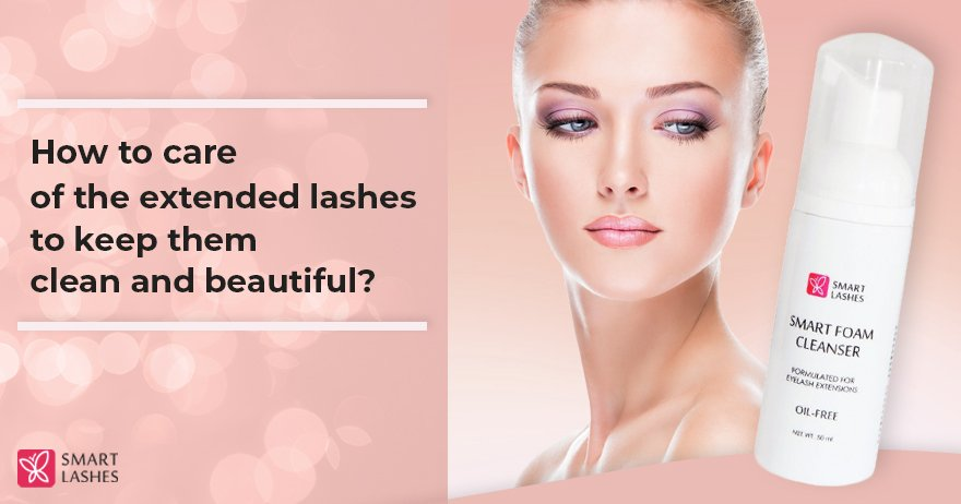 How to care of the extended lashes to keep them clean and beautiful ?